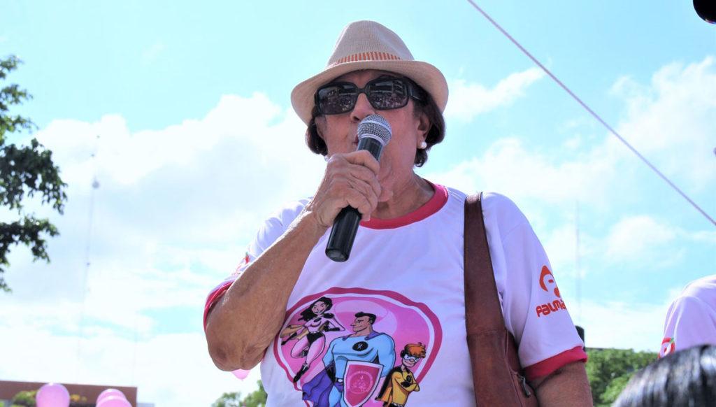 Doña Patria Minaya, agradeció el gran apoyo recibido en la tradicional caminata.