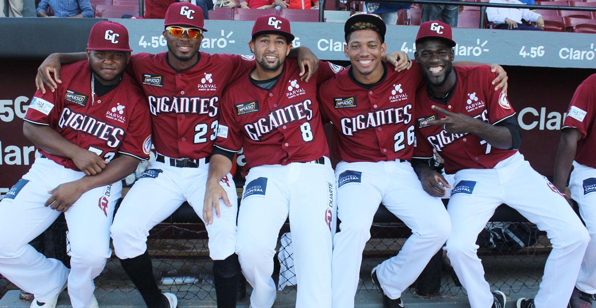 Jugadores del equipo de Los Gigantes del Cibao